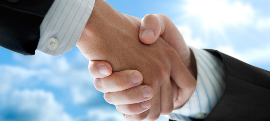 Picture of Two individuals shaking hands